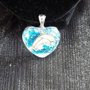 Dolphins Pendant with Chain